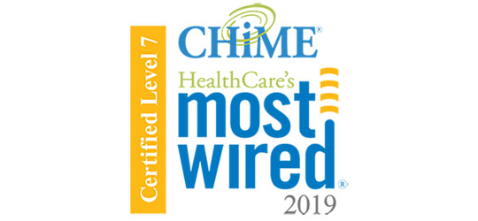"""Image result for 2019 CHIME Level 7 HealthCare's Most Wired recognition"""""""