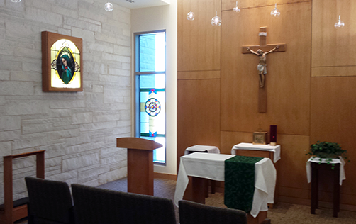 The chapel at St. Mary's Hospital – Janesville provides a place for reflection and prayer.